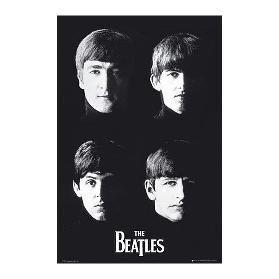 Beatles Poster The Black And White