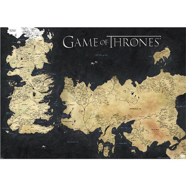Game Of Thrones Weltkarte Sieben Konigslande 91 5x61 Cm Close Up