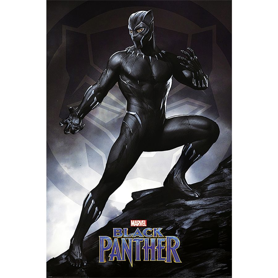 Black Panther Poster Stance - Posters buy now in the shop ...
