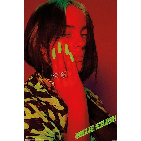 Billie Eilish Poster Red