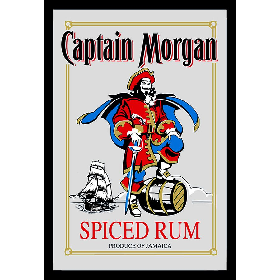 Captain Morgan Mirror Rum Printed Mirrors Buy Now In The