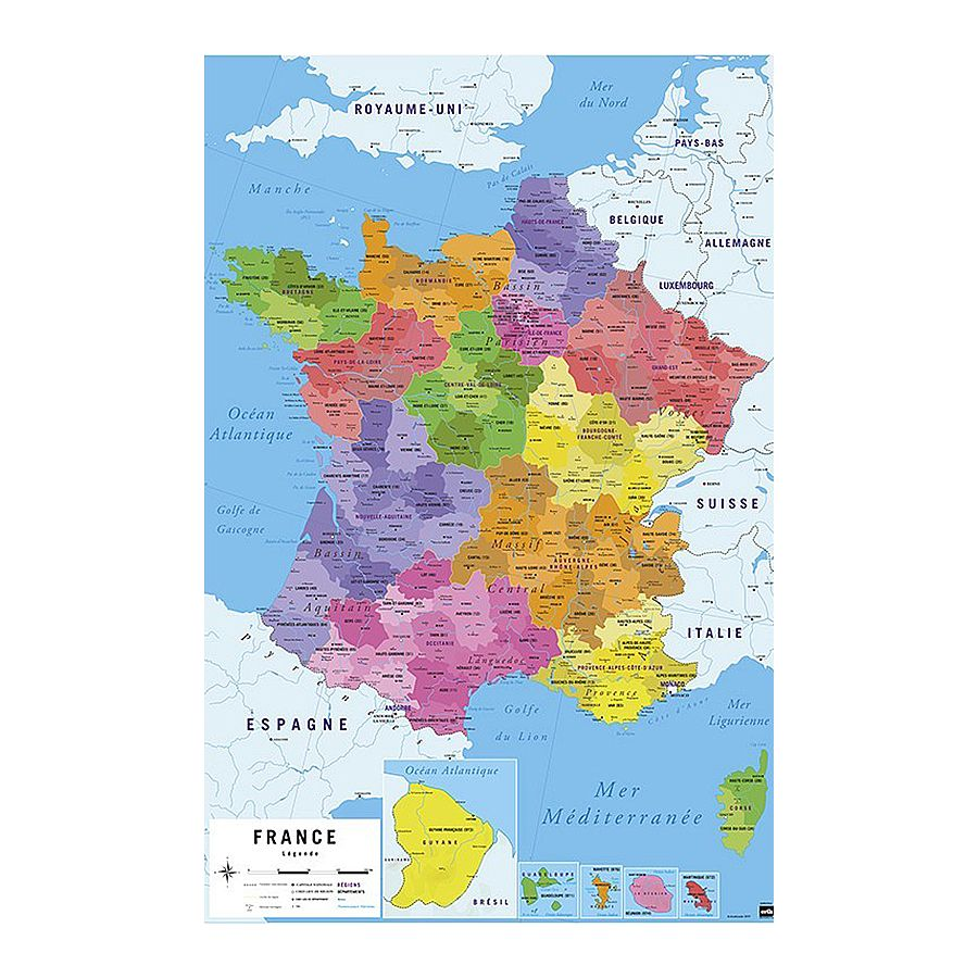 Carte De France Poster Map Of France Posters Buy Now - Buy map posters
