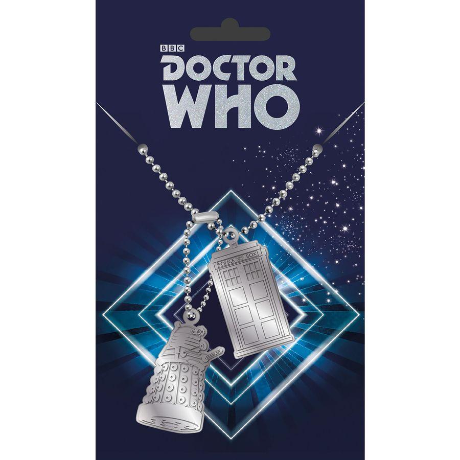 Doctor Who Dog Tag Tardis & Dalek