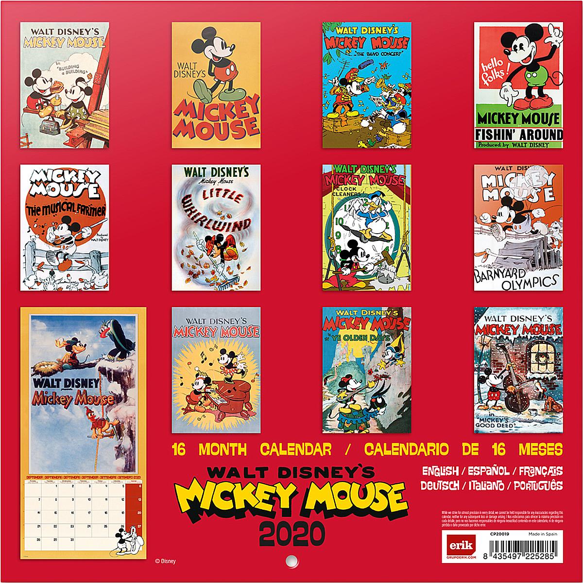 Poster Calendario 2020.Disney Calendar 2020 Mickey Mouse