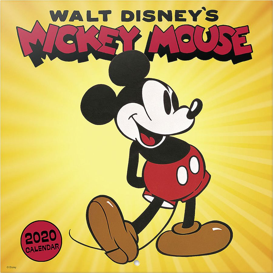 Calendrier One Piece 2020.Disney Calendar 2020 Mickey Mouse