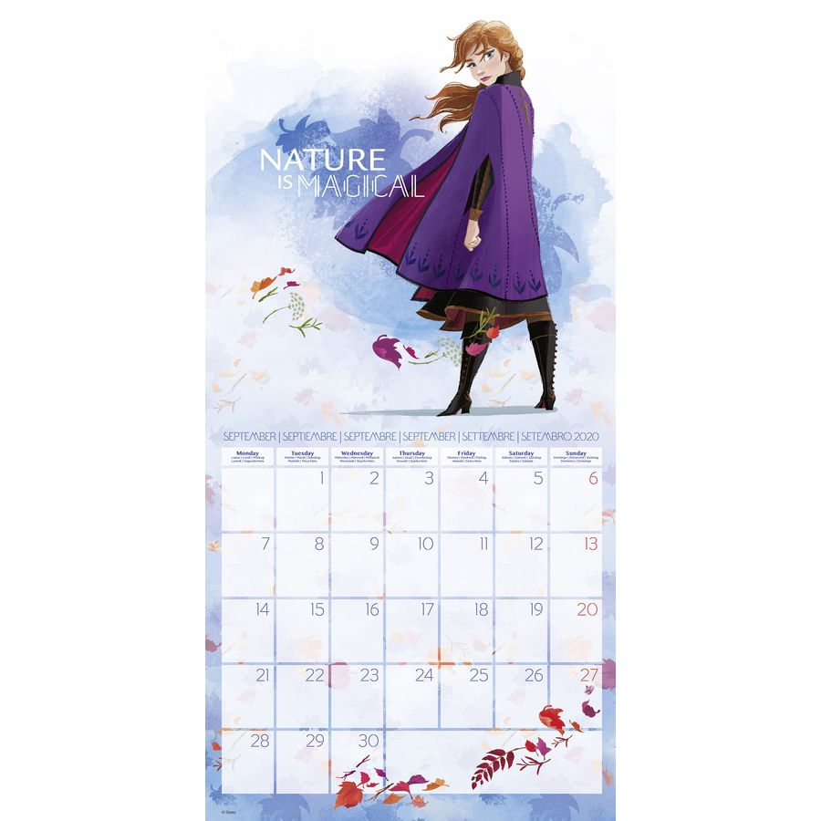 Disney Calendar 2020 Frozen Eisk 246 Nigin Inkl Poster