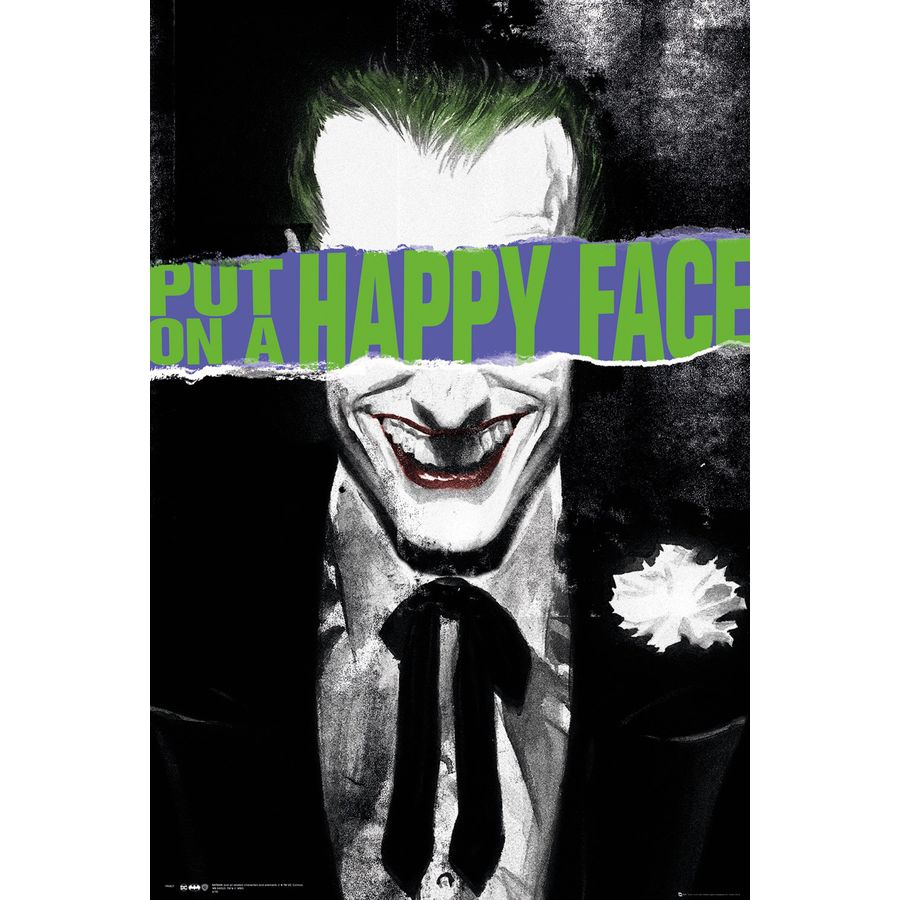 DC Comics Poster Joker Put On A Happy Face