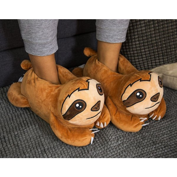 sloth plush slippers merchandise buy now in the shop close up gmbh. Black Bedroom Furniture Sets. Home Design Ideas