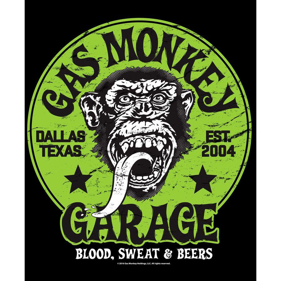 gas monkey garage t shirt green logo on close up. Black Bedroom Furniture Sets. Home Design Ideas