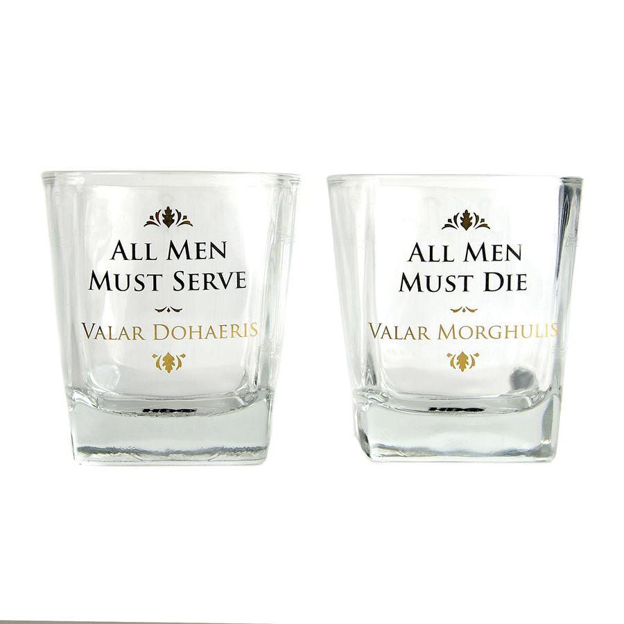 Game Of Thrones Whiskeyglaser 2er Set All Men Must Close Up