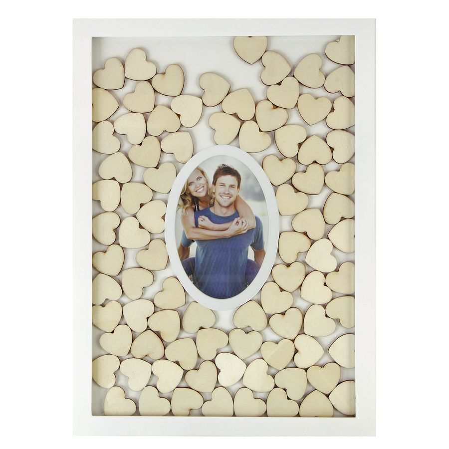 Guestbook in a frame with hearts to write on, and photo - Other ...
