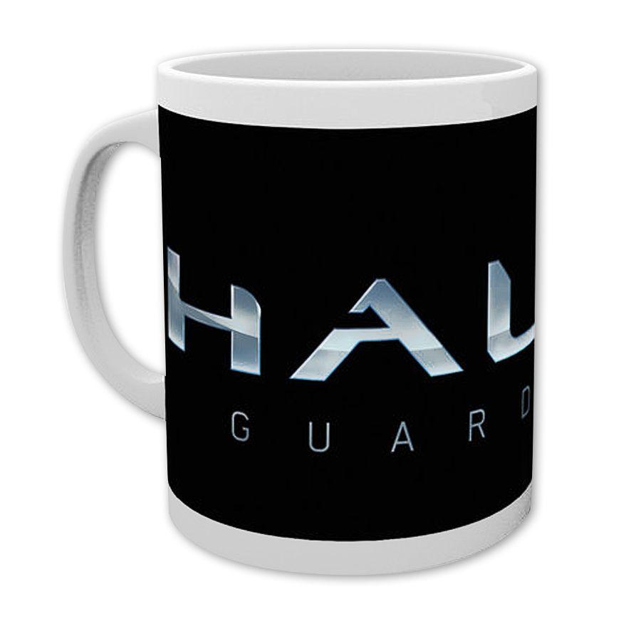 halo 5 guardians tasse mit logo bei close up im fanstore