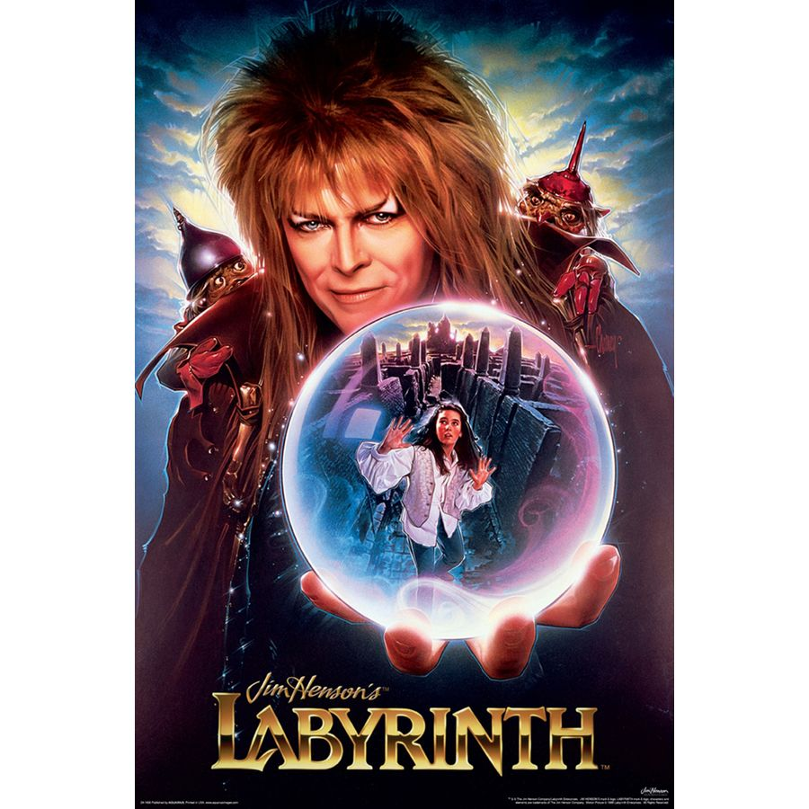 David Bowie poster print wall art decor merchandise Labyrinth Movie