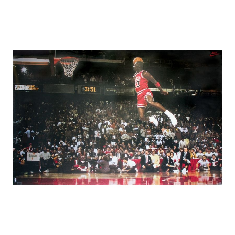 Michael jordan poster slam dunk contest posters buy now for Best place to buy posters in store