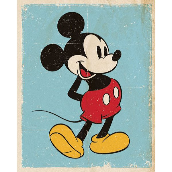 Mickey Mouse Poster Retro Blue