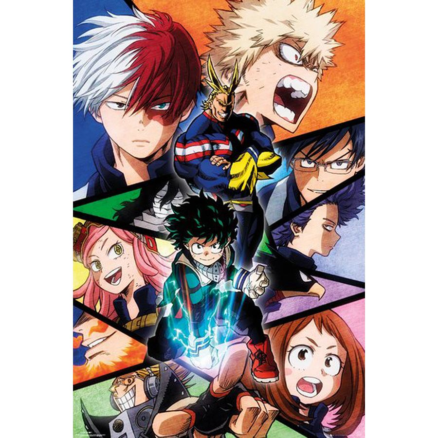 my hero academia poster characters posters buy now in the shop