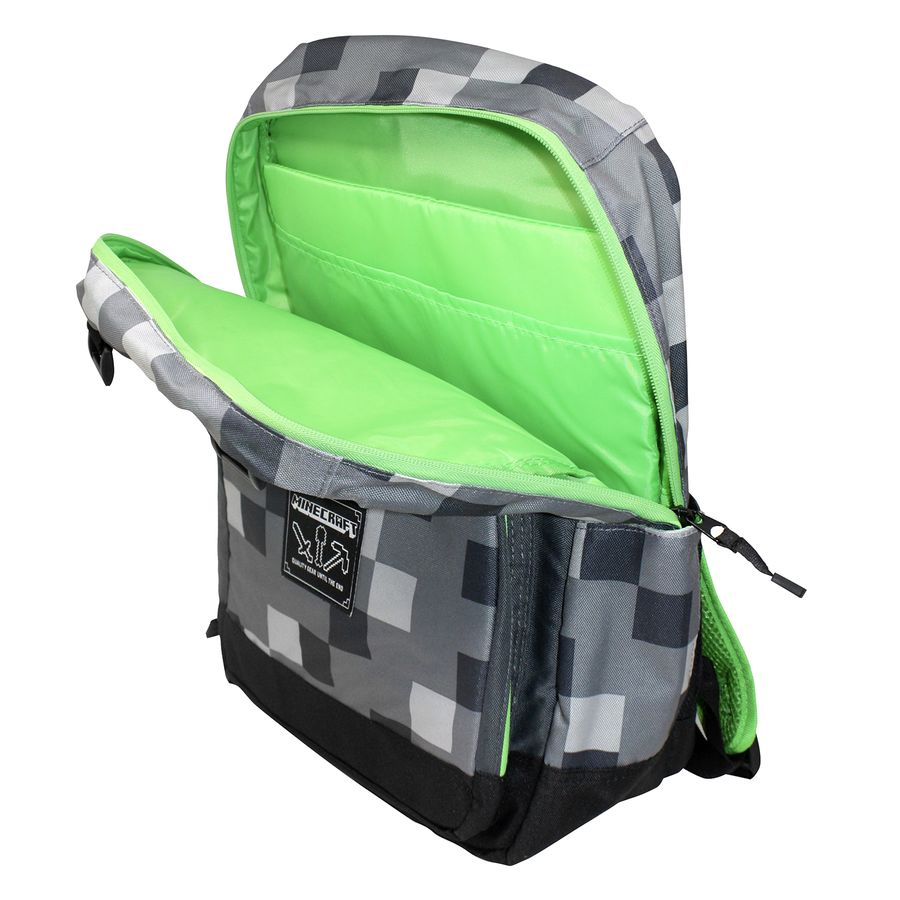 837647517e Minecraft Creepy Creeper Backpack Dark Grey - Bags buy now in the ...