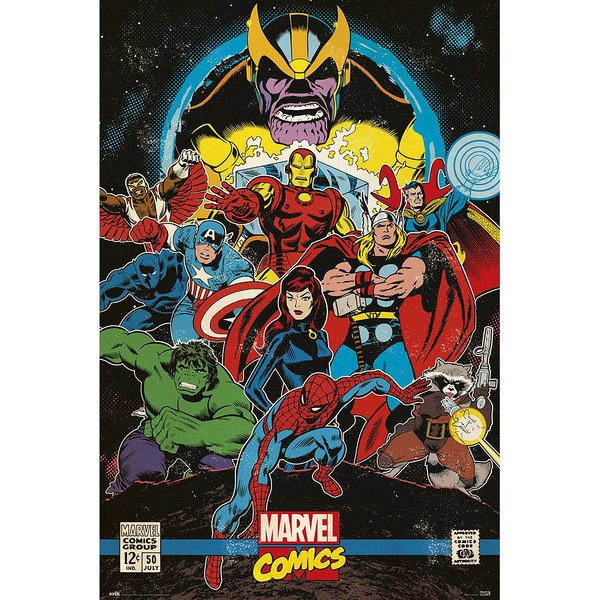 Marvel Comics Retro Poster