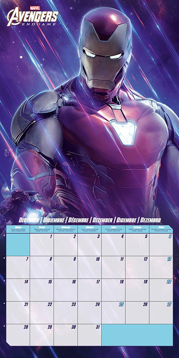 Calendario Ironman 2020.Marvel Calendar 2020 Avengers