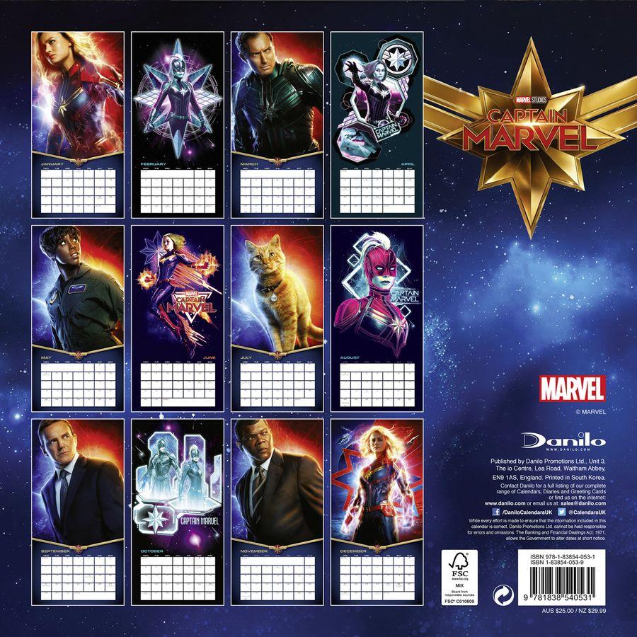 Calendrier One Piece 2020.Marvel Calendar 2020 Captain Marvel