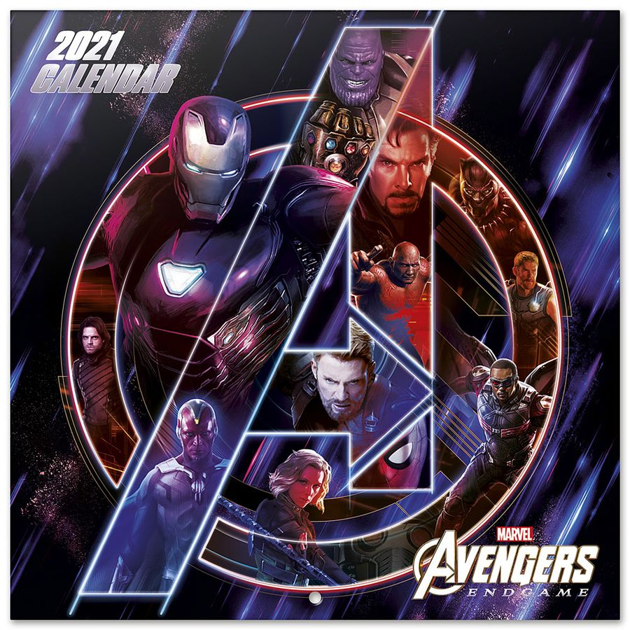 Marvel Avengers calendar 2021   Calendars buy now in the shop