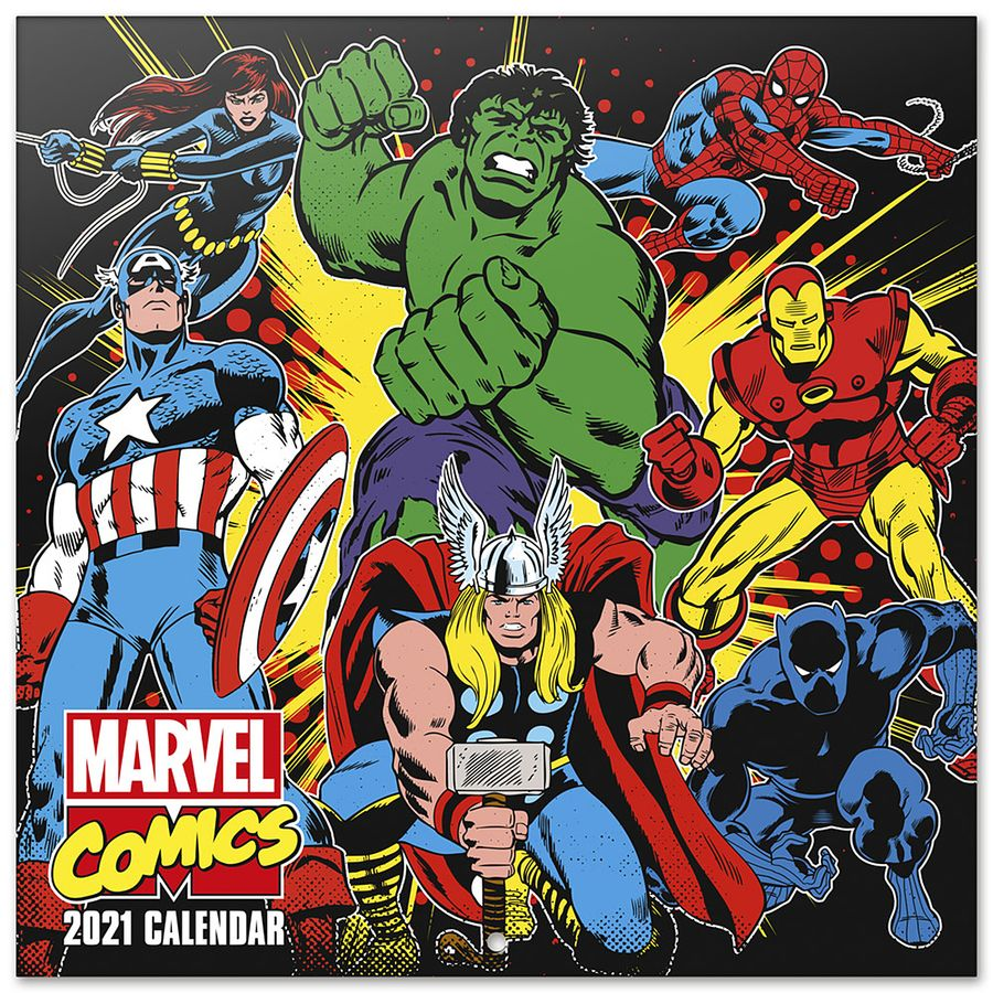 Marvel Comics Calendar 2021   Calendars buy now in the shop Close