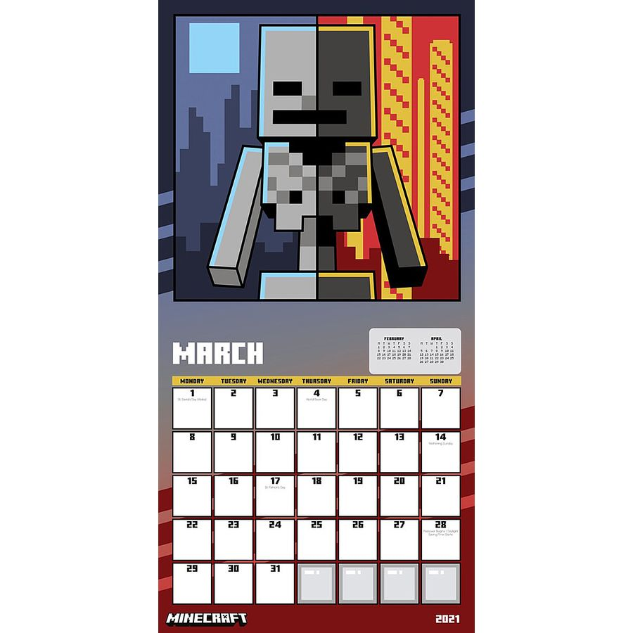 Minecraft Calendar 11 - Calendars buy now in the shop Close Up GmbH