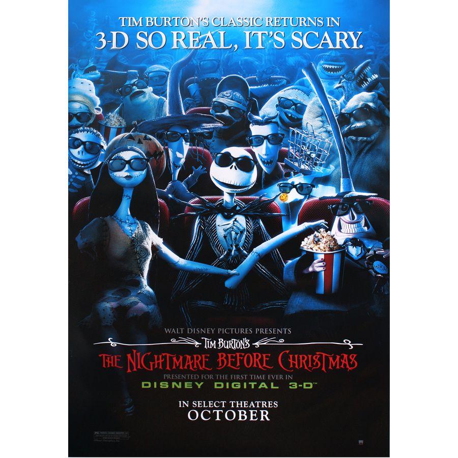 Nightmare before Christmas Poster Disney Digital 3D - Posters buy ...