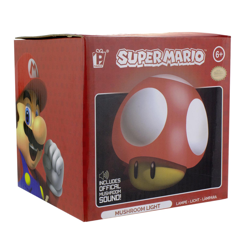 Super Mario Luz con Sonido Mushroom One Size Multicolor