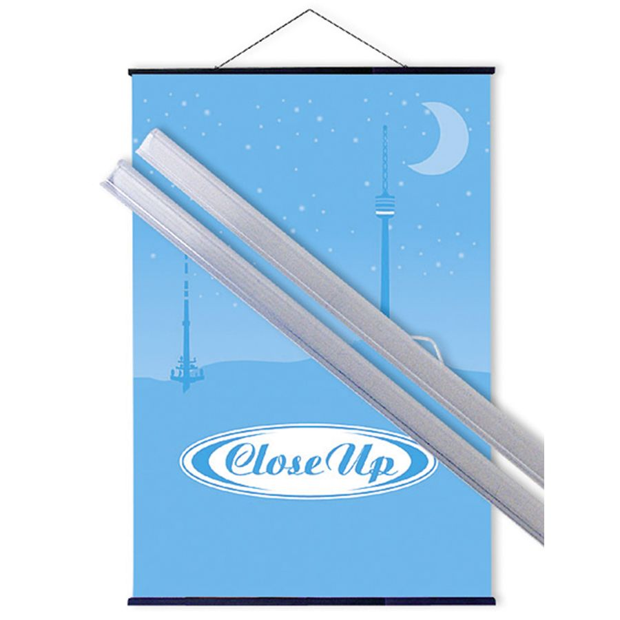 Poster hanger transparent 61cm (pair) - Poster Hangers buy now in ...