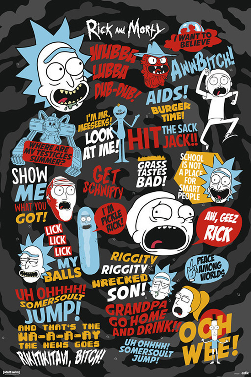Rick And Morty Poster Quotes 3   Posters Buy Now In The Shop Close Up GmbH