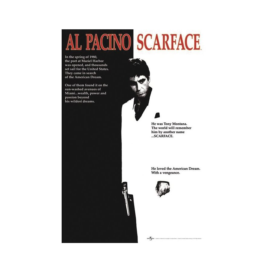 SCARFACE POSTER - Posters buy now in the shop Close Up GmbH