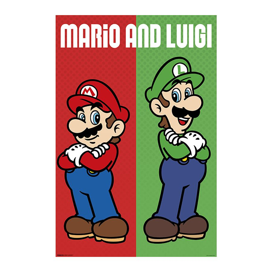 Super Mario Poster Mario & Luigi