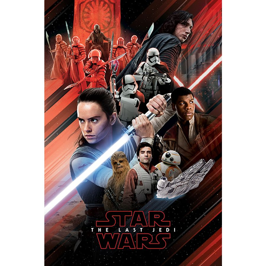 Modernistisk Star Wars Episode 8 Poster Red Montage - Posters buy now in the LA-74
