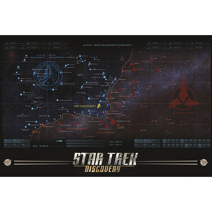 Star Trek Discovery Poster Map Posters Buy Now In The Shop Close
