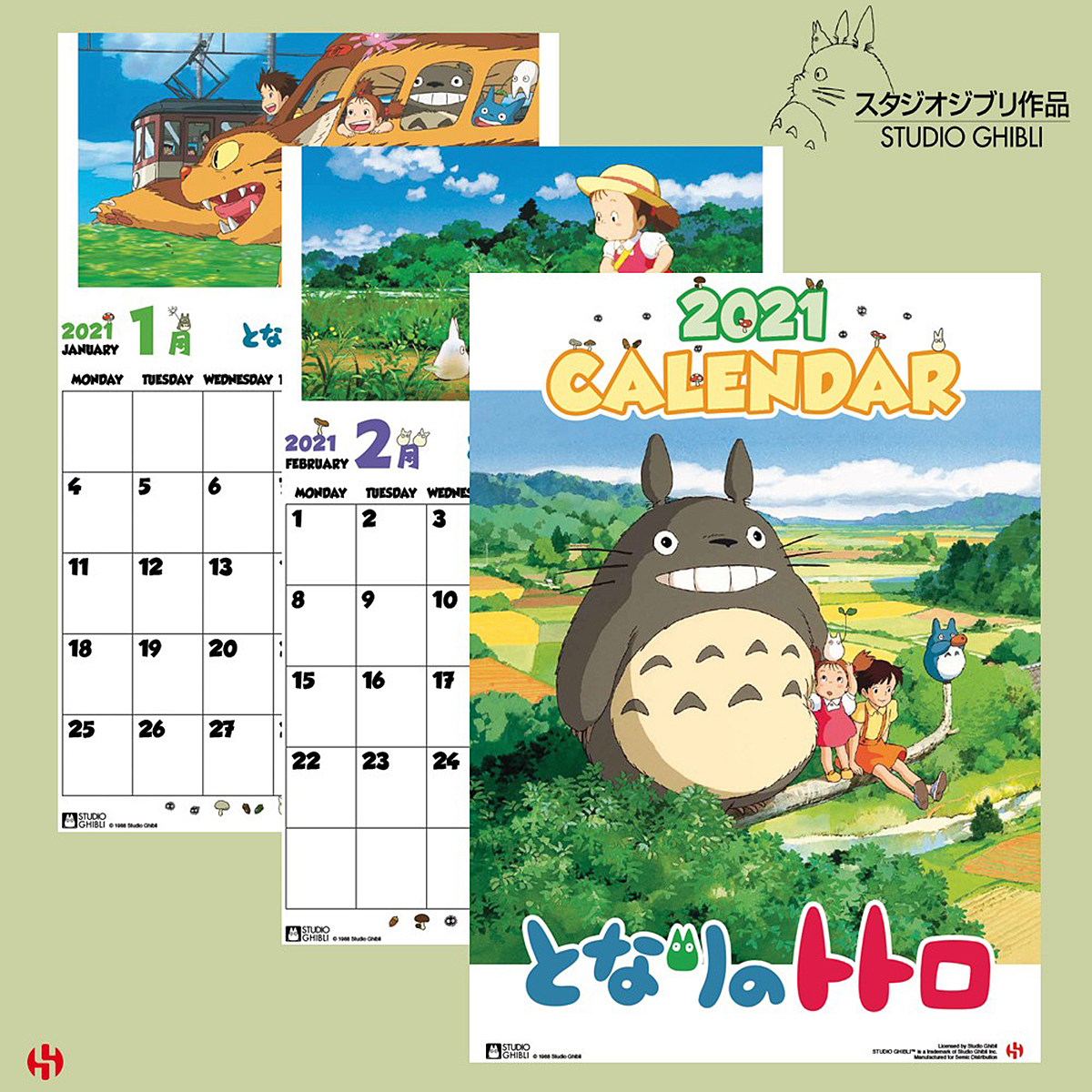 Studio Ghibli Totoro Special Calendar 2021 Kalender 2021