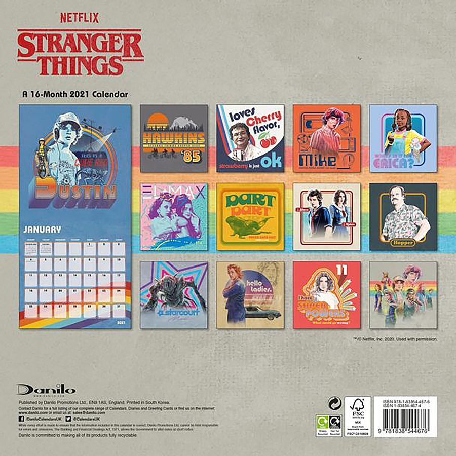 Stranger Things Calendar 2021   Calendars buy now in the shop