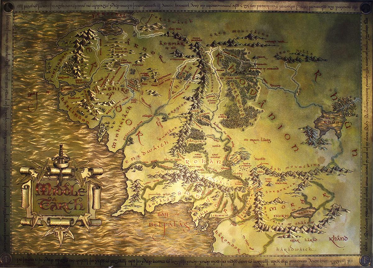 The Hobbit Landkarte Bei Close Up Im Fan Store Gunstig Kaufen