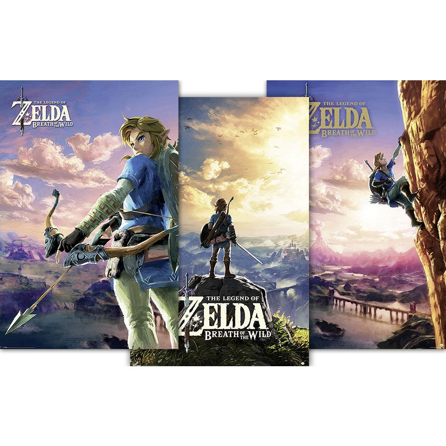 Mobel Wohnen Poster 91 5x61 Cm The Legend Of Zelda Hyrule