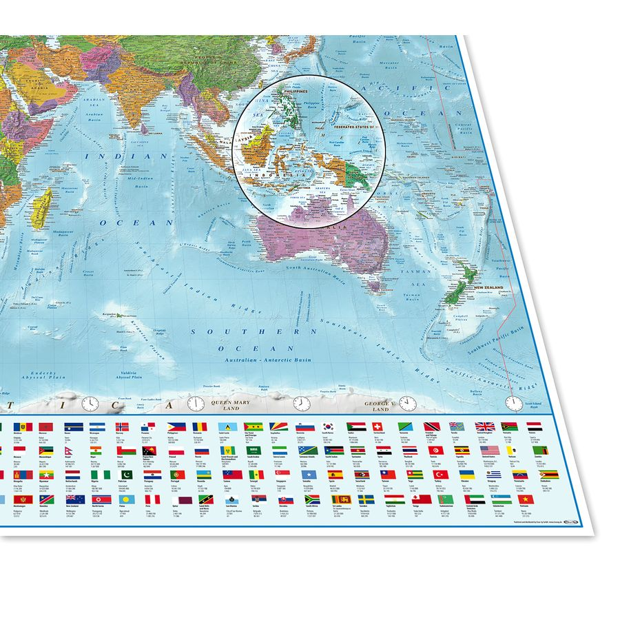 Map of the world with flags xxl poster version 2017 on close up world map with flags xxl poster gumiabroncs Choice Image