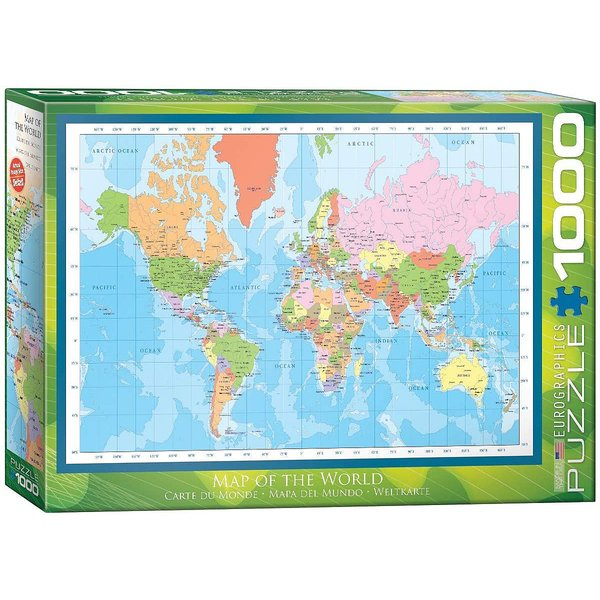 World map puzzle 1000 pieces